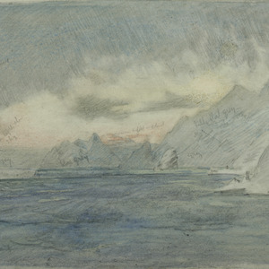 Sunrise from Elephant Island, looking towards Clarence Island, 1916