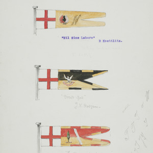 Flags of R. Koettlitz, T. V. Hodgson and E. H. Shackleton