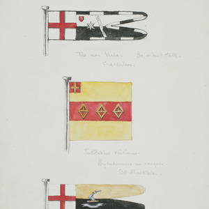 Flags of E. A. Wilson, E. H. Shackleton and H. T. Ferrar
