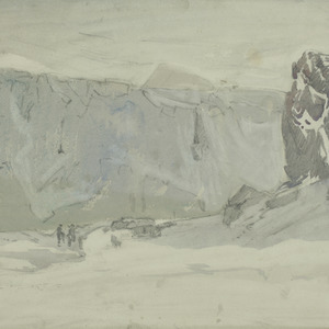 Elephant Island 1916, showing hut constructed from two ships boats