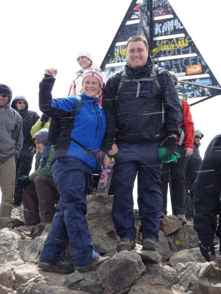 MacGiffin s at the summit of Mount Toubkal