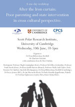 After the Iron curtain: Poor parenting and state intervention in cross cultural perspective: a one-day workshop