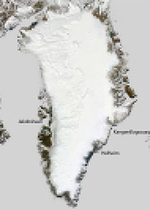 The Scott Polar Research Institute and the Times World Atlas (13th ed.) Map of Greenland