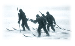 Sledge hauling on ski (E.A. Wilson)