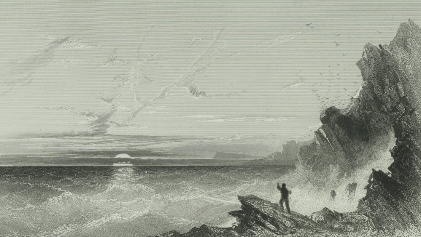 the open water from Cape Jefferson - Elisha Kent Kanes Arctic Explorations 1856