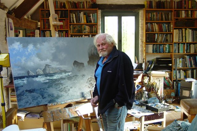 Keith Shackleton in his studio