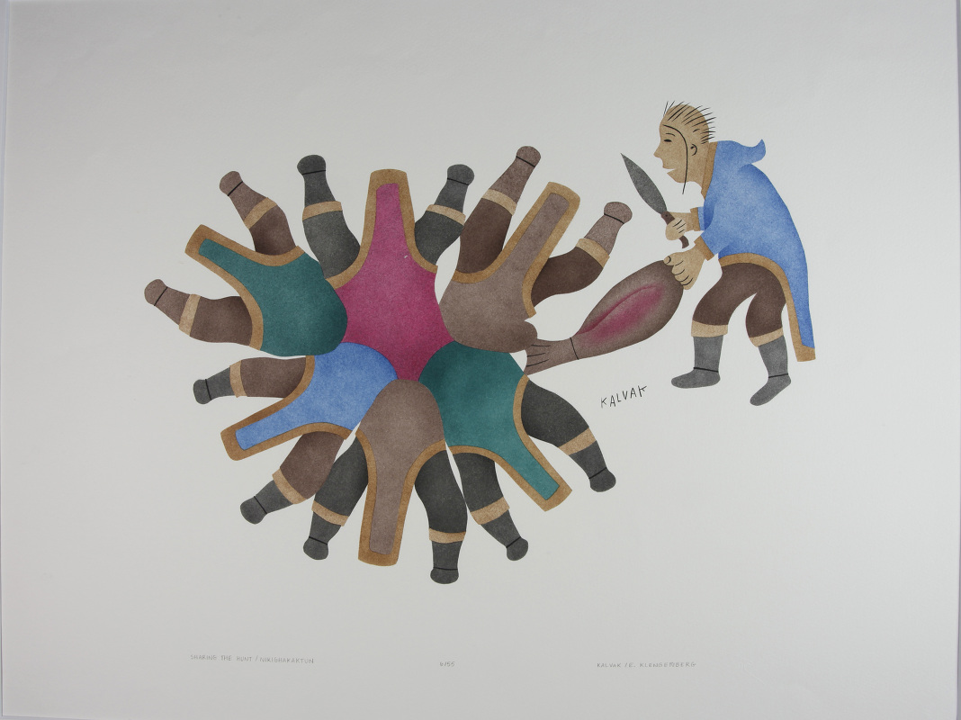 Sharing the hunt by Helen Kalvak, Ulukhaktok 1985 (Y: 2010/10/46)