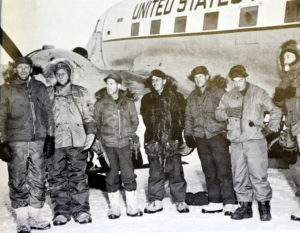 The first Americans to stand at the South Pole (source: US Navy)