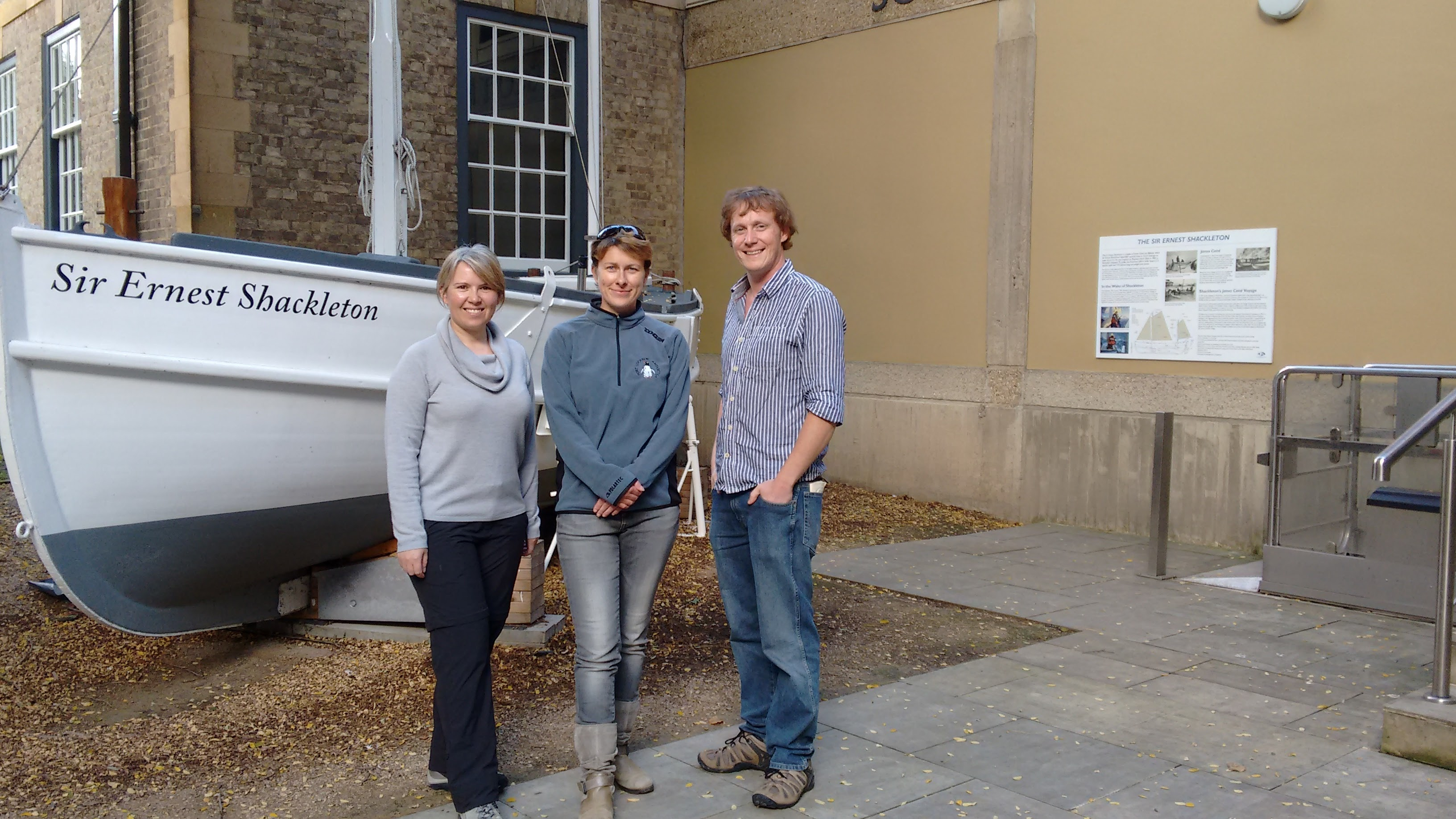 (left to right) Adele Jackson, Rachel Morris and Iain Pringle from this year's UKAHT team.