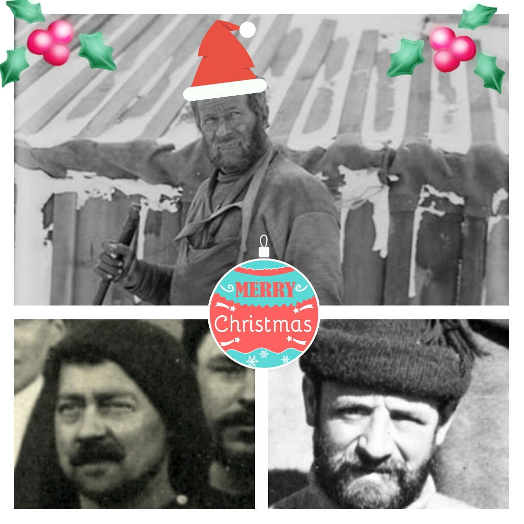 Christmas babies: (clockwise from top) William Lashly, Arthur Bailey and Wally How.