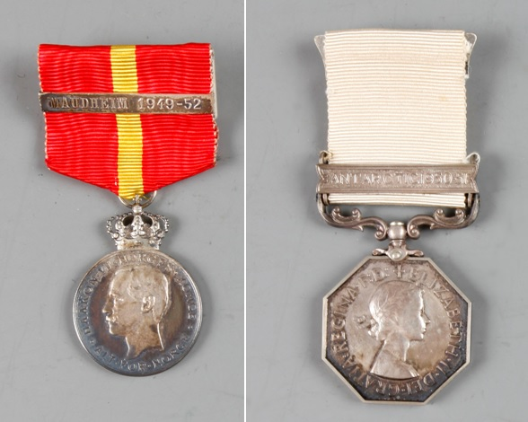 Y: 2004/2/3-4. Maudheim Medal and Polar Medal awarded posthumously to Leslie Quar, who lost his life on the NBSAE.