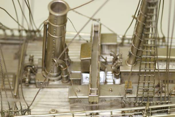 Close-up of model