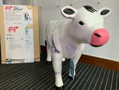 Morca the cow sculpture