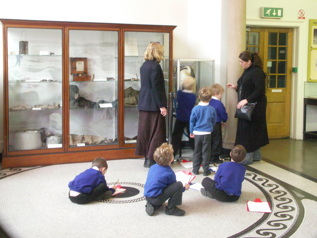 School group in the Museum