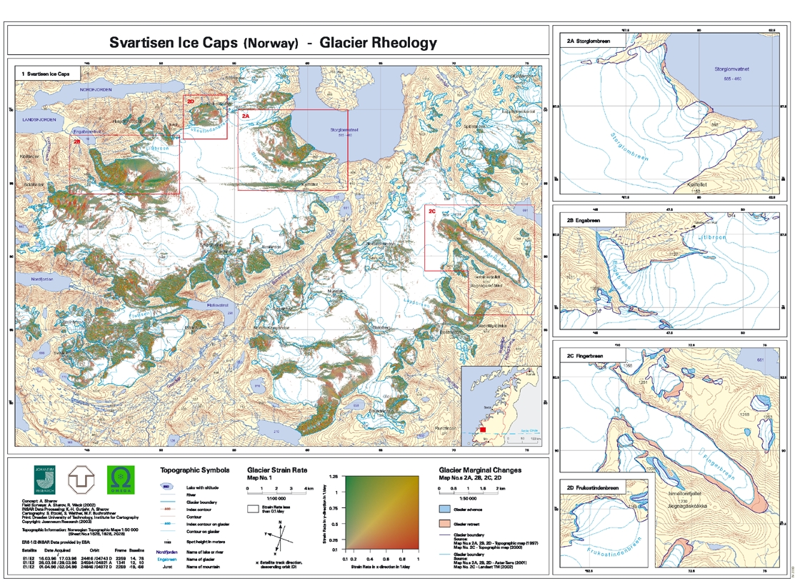 Scott Polar Research Institute Cambridge INTEGRAL - Norway glacier map